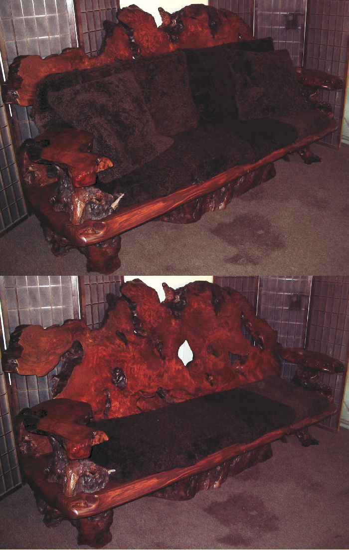 Redwood Burl Sofa -SOLD!