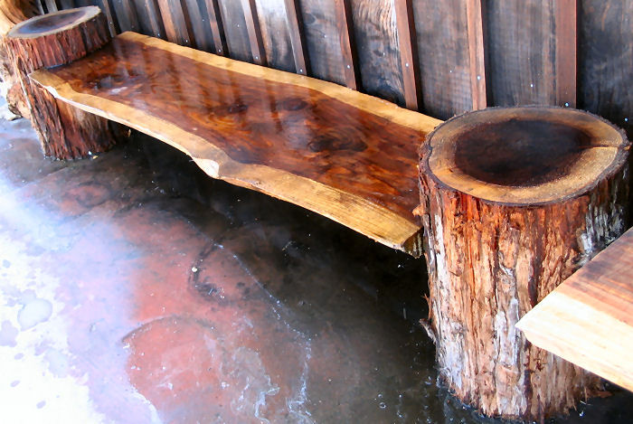 Redwood Bench