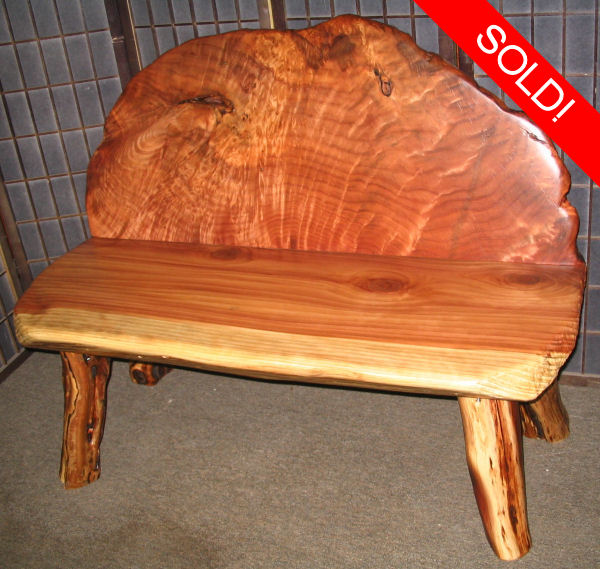 Redwood Burl Bench -SOLD!