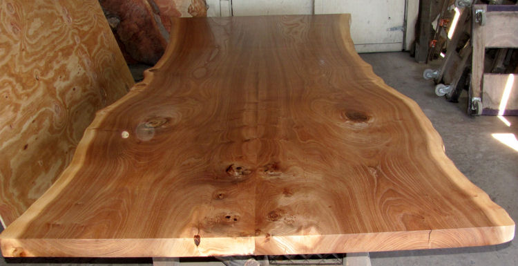 Book-Matched Elm Slab