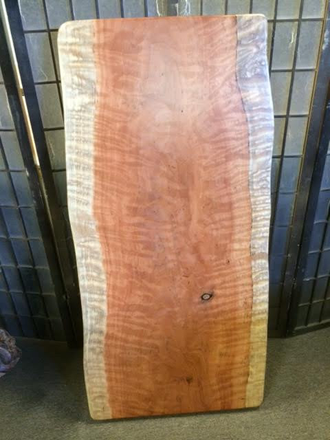 Curly Redwood Slab