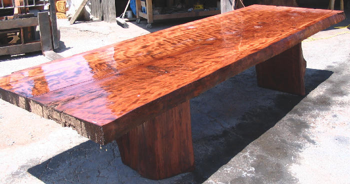 Curly Redwood Table -SOLD!