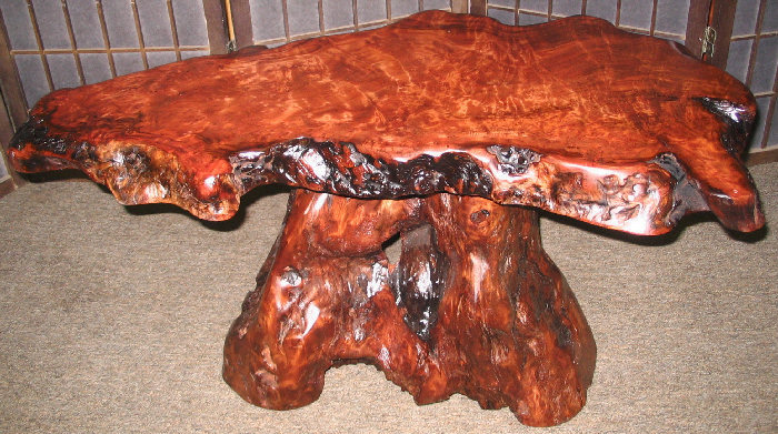 Redwood Burl Table -SOLD!