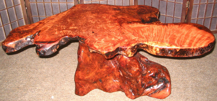 Burl Wood Coffee Table -SOLD!