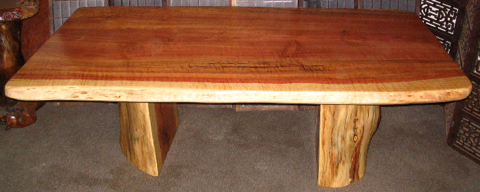 Curly Redwood Dining Table