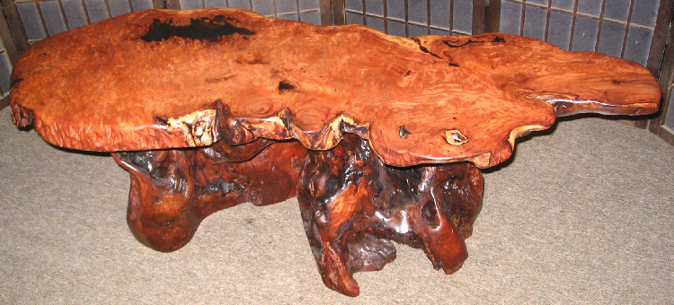 Redwood Burl Live Edge Table