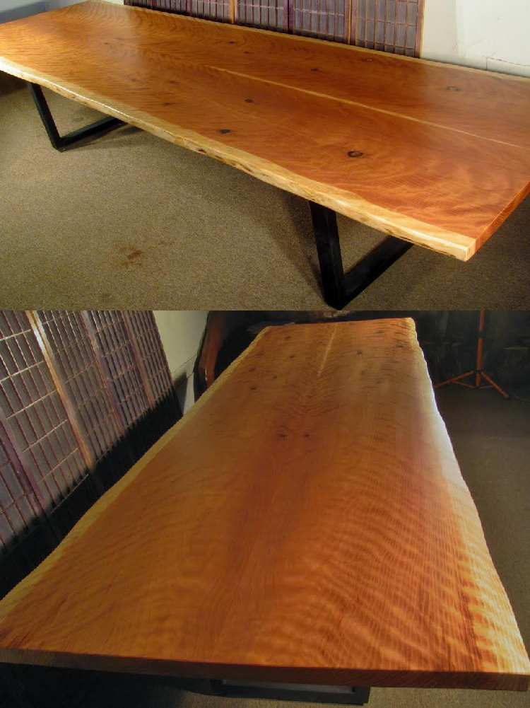 Redwood Conference Table with Steel Legs
