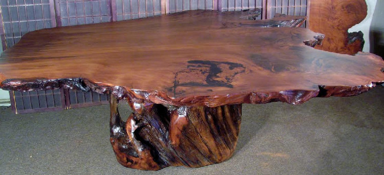 Redwoodurl Dining Table with Root Base
