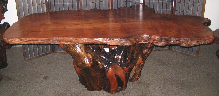 Redwood Burl Dining Table -SOLD!