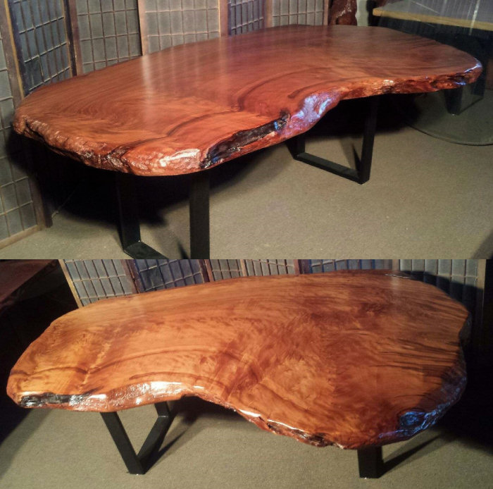 Redwood Desk with Steel Legs