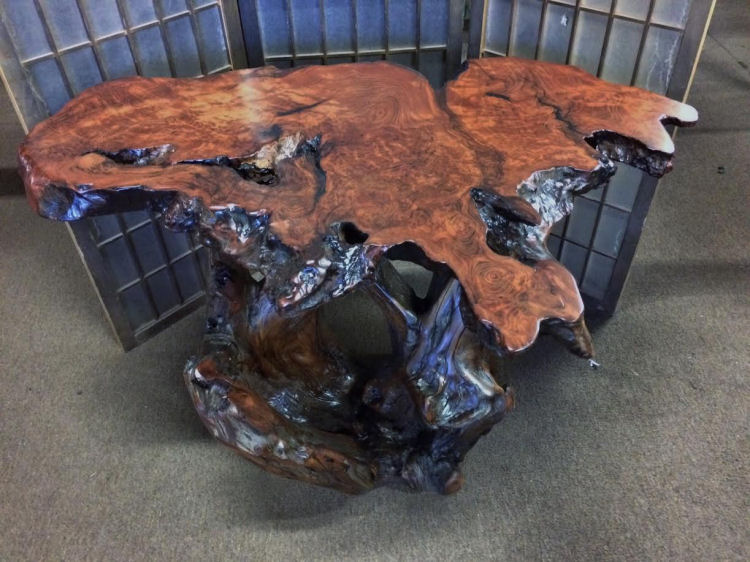 Redwood Burl End Table