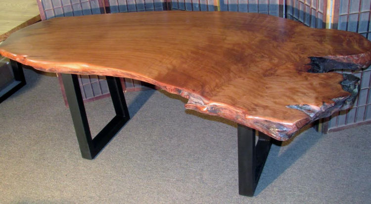 Old Growth Redwood Desk with Steel Legs