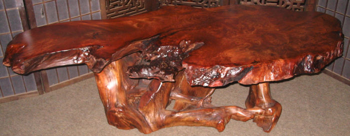 Redwood Burl Coffee Table -SOLD!