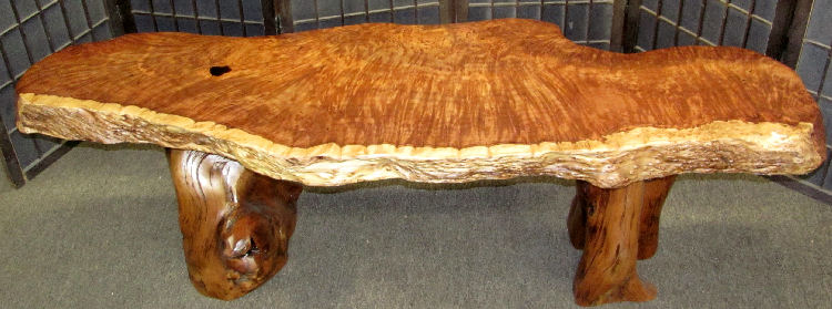 Redwood Burl Table or Bench